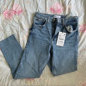 Zara highwaisted straight leg jeans